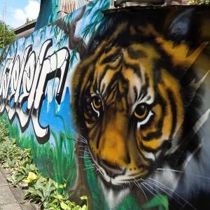 続・チェンマイの『路所にある面白い壁絵』(1)