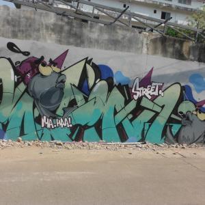 続・チェンマイの『路所にある面白い壁絵』(4)