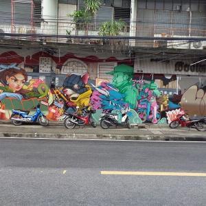 新・チェンマイの路上にある『面白い壁絵』(1)