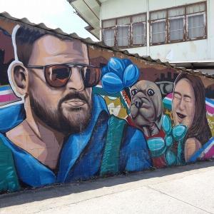 チェンマイの路上にある『面白い壁絵』(5)