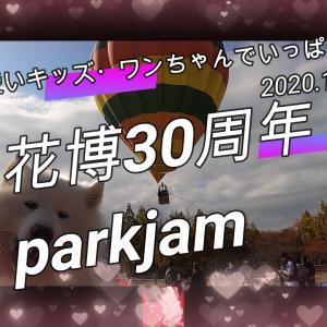サモエド さくらOSAKA花博30周年 parkjam2020.11