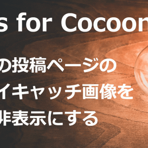 【Cocoon】特定の投稿ページのアイキャッチ画像を非表示にする方法