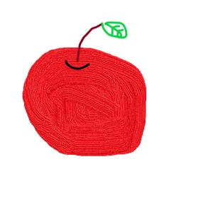 今日のうに太郎画伯 第一回 りんごの絵