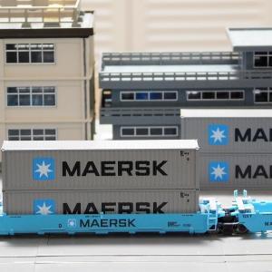 """【在籍車両】 GUNDERSON ― KATO USA MAXI-I Double Stack Car """"MAERSK"""""""