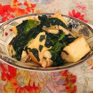 カブの海老しいたけあんかけをお豆腐で