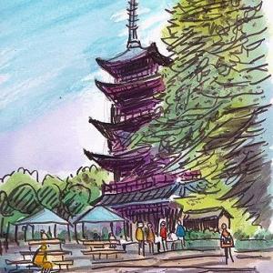 東京散歩 ― 上野公園五重塔