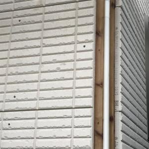 2019.9 【着工92日目】外壁工事の途中経過(ALCのジーファスタイル50、シャイニートーン)