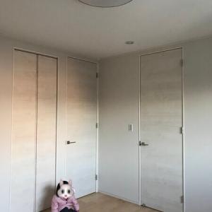 2019.11【着工135日目】ドアが取り付けられました!玄関タイルは施工中【主寝室、(洗面室)、玄関】