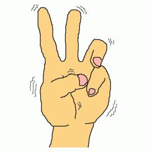 tn22.母に教わった指で3を作る方法