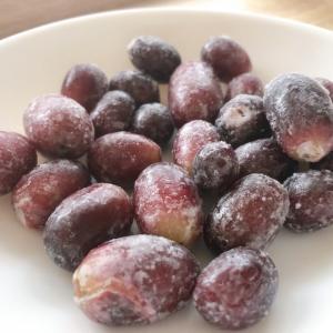 セブンイレブンの冷凍フルーツ『そのまま食べるぶどう』種なし皮ごと食べられる