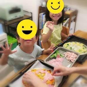 子供たちと夕食作り🍕
