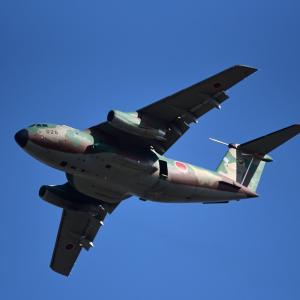 C-1輸送機の飛行展示