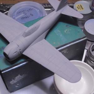 紫電-5「真夏の筆塗りの夢」アオシマ1/72製作記