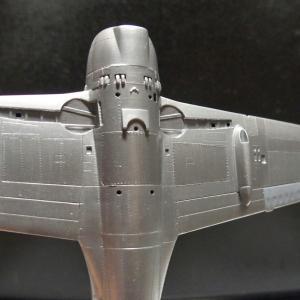 紫電-8「筆塗り銀,怖るるに足らず」アオシマ1/72製作記