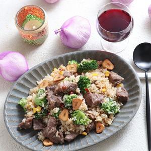 【動画あり】牛肉のペペロンチャーハン