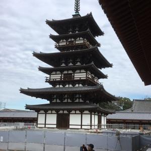 薬師寺お身拭い&最古の塔(法起寺)