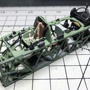 タミヤ 1/48 フェアリーソードフィッシュMk.I 水上機型 #03 コクピット塗装・組立