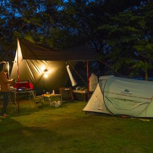 鹿沼市の出会いの森総合公園 オートキャンプ場③夜のキャンプ飯