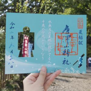 唐沢山神社の6月の人形御朱印と水琴窟と紫陽花手水!