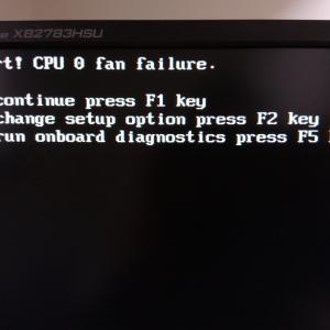 CPUファンエラー
