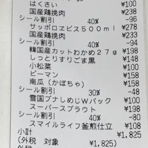 今日のお買い物(食費)