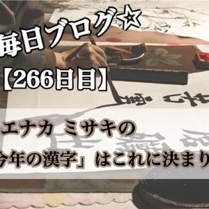 【266日目】ウエナカ ミサキの「今年の漢字」