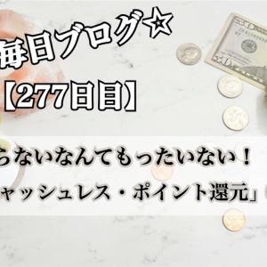 【277日目】今がチャンス!「キャッシュレス・ポイント還元事業」②