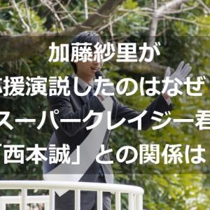 加藤紗里が応援演説したのはなぜ?スーパークレイジー君「西本誠」との関係は?
