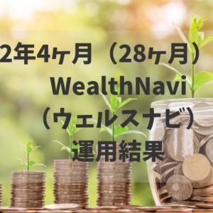 2年4ヶ月(28ヶ月)WealthNavi(ウェルスナビ)運用結果