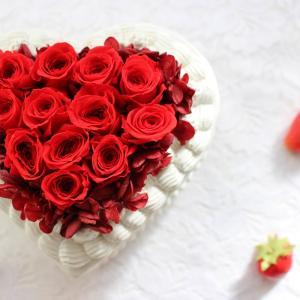 ハートフラワーケーキ。バレンタインに。★yuki*florist.愛媛