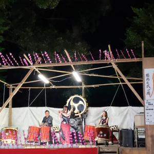 横岡八幡神社祭典にて演奏♪