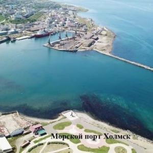 ホルムスク港は近代的に整備されます