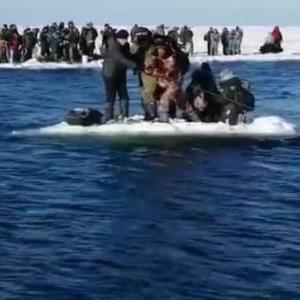 島の釣り人は一命を取り留めました 非常事態省の忠告を無視しました