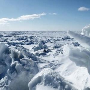 択捉 色丹は流氷で埋まりました