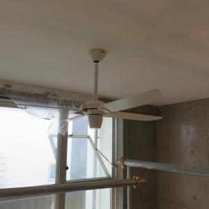 部屋大規模修繕 天上塗りとファン交換