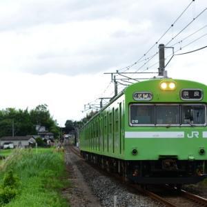 奈良線で103系を撮る。