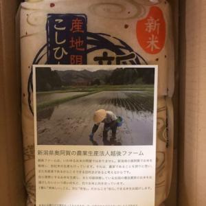 前沢化成工業から優待が届きました。新潟県産新米こしひかり 3kg
