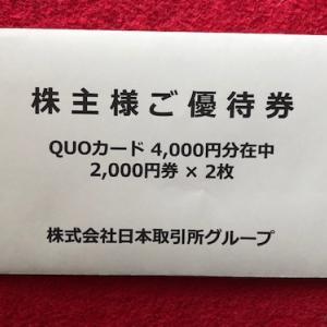 8697 日本取引所グループから最後の優待届く。