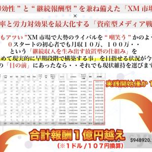 yuuさんの「XMアフィリエイト攻略プロジェクト」の検証・レビュー 不労収入で月100万円を稼ぐスキーム