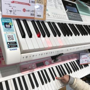 楽器店で、カシオのキーボードが気になりました。