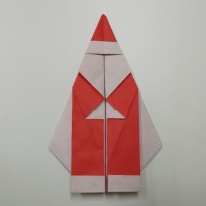 【詳細写真説明】高齢者でも簡単なサンタクロースの折り方!