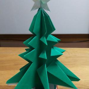 【写真詳細説明】高齢者でも簡単なクリスマスツリーの折り方