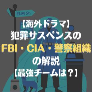 【海外ドラマ】犯罪サスペンスの「FBI」「CIA」「警察」組織の解説【最強チームはどれ?】