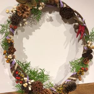 自然のクリスマス・リース