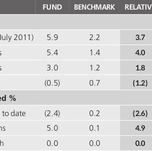 Allan Gray Australia Stable Fund はオーストラリアドルで半分預金、半分豪州株式に投資するファンド