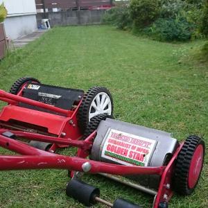 芝庭  夏の終わり芝刈り