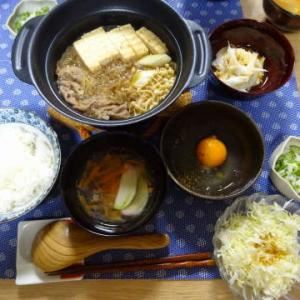 ●肉豆腐 ・長芋ソーメン ・オクラと帆立和え