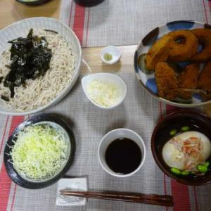 ●お蕎麦 ・ころっちのお惣菜 ・冷奴 ・鮭とじゃが芋のグラタン ・ローストビーフサラダ