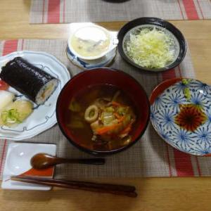 ●恵方巻 ・ぶりのお雑煮 ・天ぷら蕎麦 ・すき焼き ・サザエのつぼ焼き ・つみれ汁