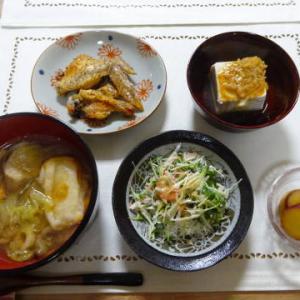 ●ぶりのお雑煮 ・鶏の塩胡椒焼き ・さつまいものレモン煮 ・貝割とかにかまのマヨ和え ♪近江牛